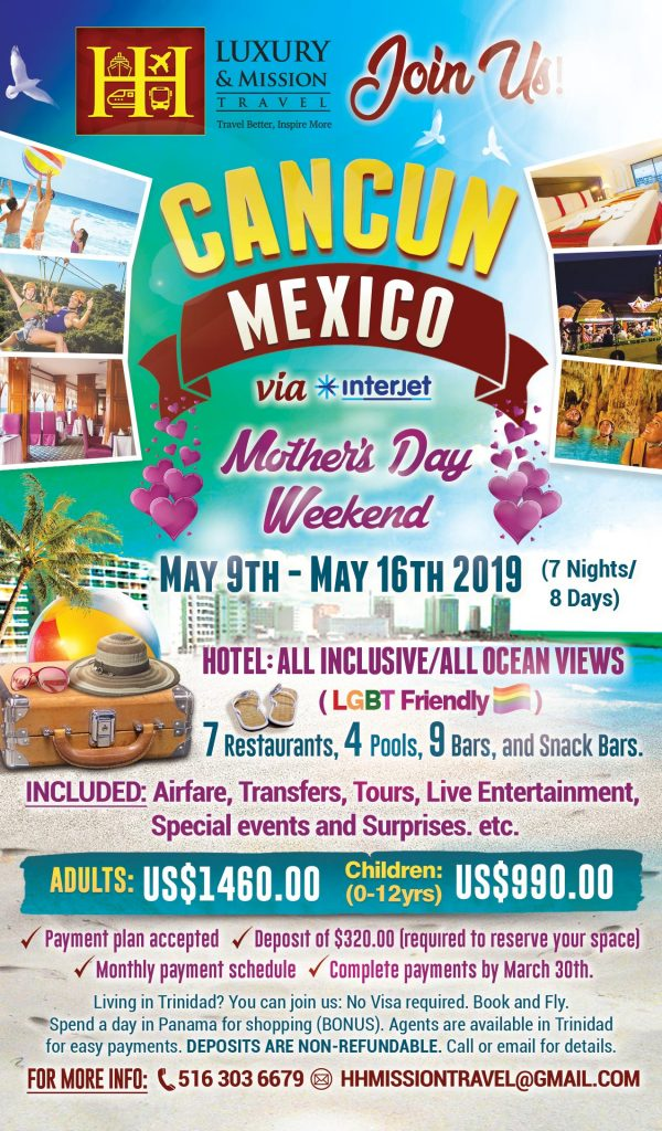 cancun trip flyer